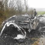 Ausgebrannte Überreste