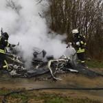 Brennender Wohnwagen in Bockeroth