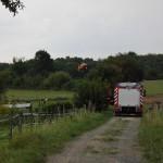 Rettungshubschrauber im Landeanflug