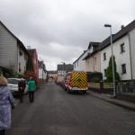 Feuerwehrfahrzeuge an der Einsatzstelle