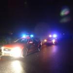Königswinter A-Dienst und Polizei an der Einsatzstelle