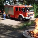 Brandstelle an der Grillhütte