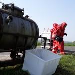 11_Übunszenario Leck geschlagener Gefahrstofftank